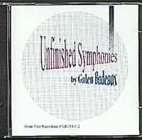 UNFINISHED SYMPHONIES CD Album Cover...for more information click on photo
